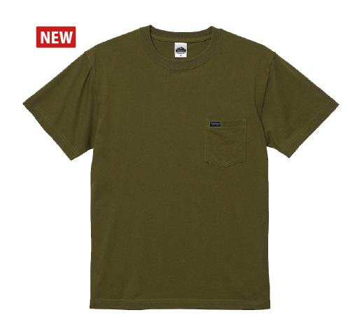 POCKET T-shirt COTTONシティグリーン